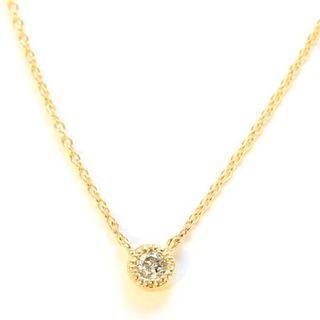 日本製 18金 イエローゴールド ダイヤモンド ベゼル フクリン 覆輪ペンダント(ネックレス)