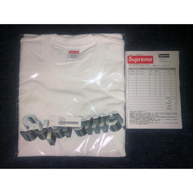 Supreme(シュプリーム)の2020ss Supreme Chrome Logo Tee  白L メンズのトップス(Tシャツ/カットソー(半袖/袖なし))の商品写真