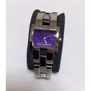 カールラガーフェルド(Karl Lagerfeld)のKARL LAGERFELD 腕時計 レディース パープル(腕時計)