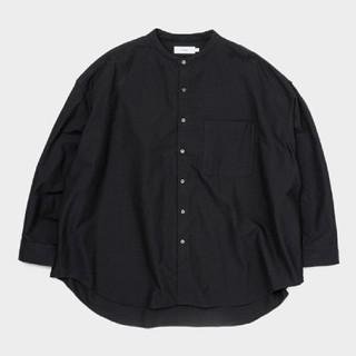 20SS 新品 Graphpaper バンドカラー シャツ 黒 オックスフォード
