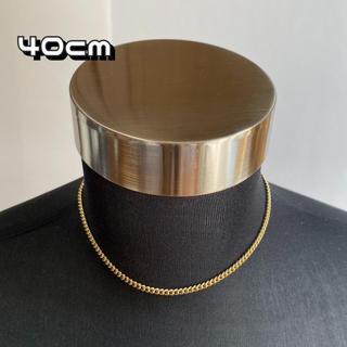 ゴールド チェーンネックレス 【40cm】メンズ ネックレス アクセサリー(ネックレス)