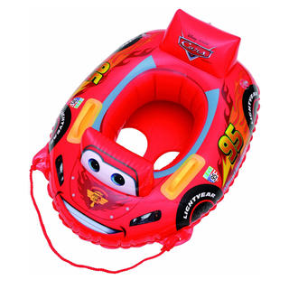 Disney - 新品 カーズ マックイーンボート 浮き輪 うきわ 足つきうきわ レッド