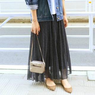IENA - 別サイトにてキープ中IENA イエナ シフォンドットプリーツスカート