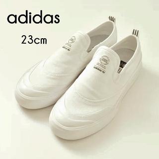 アディダス(adidas)の23cm us5【adidas】スリッポン スニーカー 白(スリッポン/モカシン)