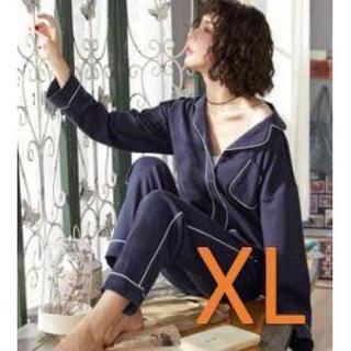 パジャマ XL 紺色(パジャマ)