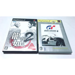 プレイステーション2(PlayStation2)の*お得* PS2 プレ2 ソフト 2本セット 龍が如く2 グランツーリスモ4(家庭用ゲームソフト)