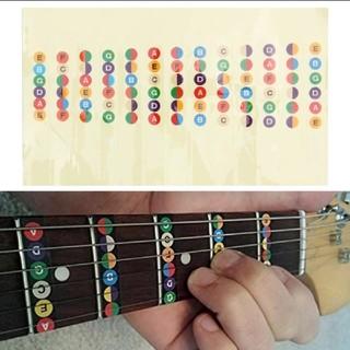 ギター指板音名シール(透明) 12フレット対応(エレキギター)