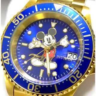 インビクタ(INVICTA)の定価8万円 INVICTA インビクタ ミッキー ダイバーズ ブルー×ゴールド(腕時計(アナログ))