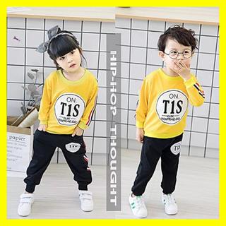 【SALE】 【キッズ90~120cm 上下セット】  薄手 スウェット セット(Tシャツ/カットソー)