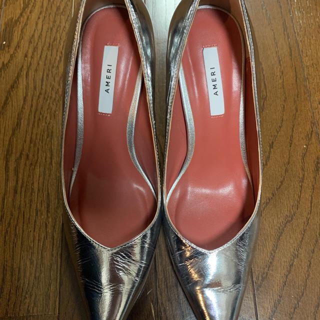 Ameri VINTAGE(アメリヴィンテージ)のAMERI VARIOUS EASY PUMPS シルバーS レディースの靴/シューズ(ハイヒール/パンプス)の商品写真