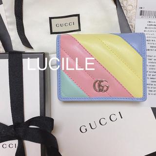 グッチ(Gucci)の'20春夏GUCCI付属品完備新品未使用 GG マルチパステルカラー二つ折り財布(折り財布)