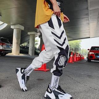ストリートパンツ ジョガーパンツ 韓国 ストリート メンズ 白 L(サルエルパンツ)