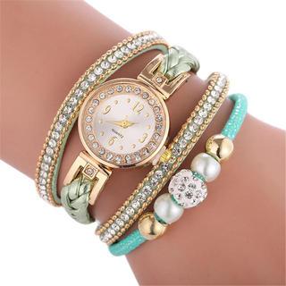 天使の翼 腕時計 レディース時計 グリーン(腕時計)