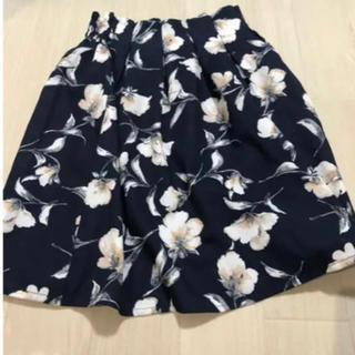 グレイル(GRL)のGRL 花柄スカート(ひざ丈スカート)