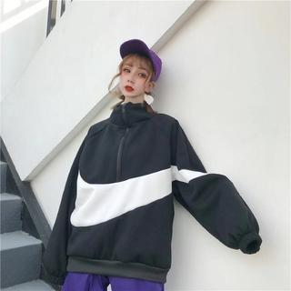 ビッグロゴ 韓国ファッション オルチャン ストリート モノトーン ブラック M(その他)