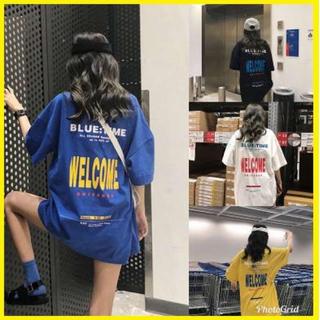 ❤即購入ok!!❤ ビッグサイズ おしゃれ Tシャツ 韓国 blue♪ 青色(Tシャツ(半袖/袖なし))