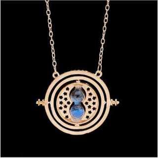 ハリーポッター レプリカ ペンダント&キーホルダー(ゴールドベース:ブルー)(ネックレス)