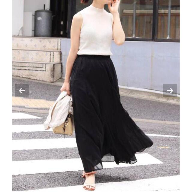 IENA(イエナ)のIENA イエナ コットンボイルギャザーパネルスカート レディースのスカート(ロングスカート)の商品写真