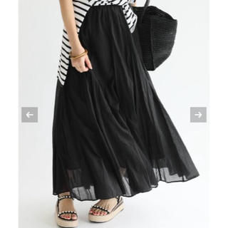 IENA - IENA イエナ コットンボイルギャザーパネルスカート