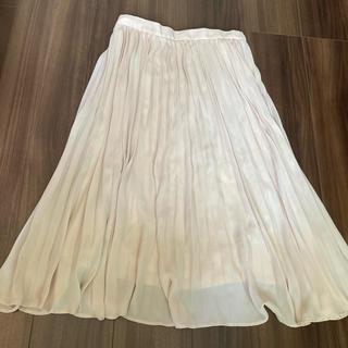 ジーユー(GU)のロングスカート プリーツスカート(ロングスカート)