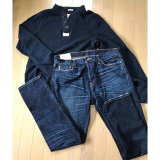 アバクロンビーアンドフィッチ(Abercrombie&Fitch)の☆アバクロ☆ロンTとデニムのセット[XL.w34](Tシャツ/カットソー(七分/長袖))