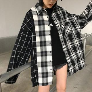 タータンチェック オルチャン チェックシャツ ストリート系 韓国(その他)