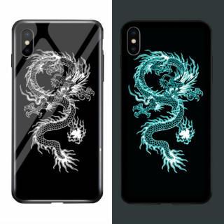 iPhone XR ケース キラキラ 夜光効果 TPU 耐衝撃 ドラゴン カバー(iPhoneケース)