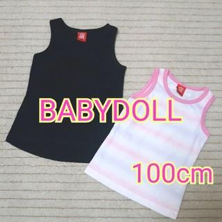 ベビードール(BABYDOLL)の【100cm】BABYDOLL★タンクトップセット★重ね着★GAP*ANAP(Tシャツ/カットソー)