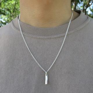 高品質 スティックネックレス シルバー メンズ ネックレス レディース(ネックレス)