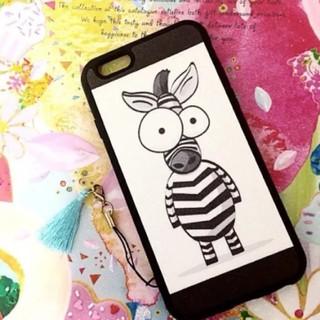 しまうまさん iPhoneケース 送料無料 プレセント 人気 可愛い(iPhoneケース)