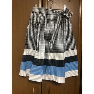 ボーダースカート(ひざ丈スカート)
