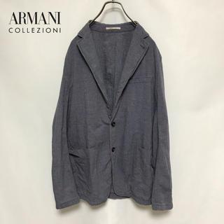 アルマーニ コレツィオーニ(ARMANI COLLEZIONI)のジャケット アルマーニ リネン混 麻 メンズ ARMANI(テーラードジャケット)