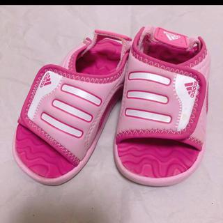 アディダス(adidas)のadidas ベビーサンダル スポーツサンダル ピンク 12cm(サンダル)