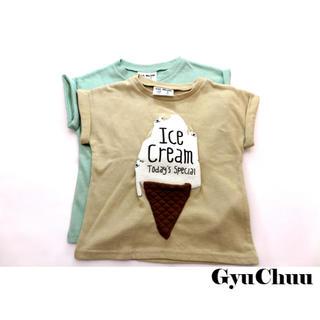 半袖Tシャツ クマアイス 韓国子供服 男の子 女の子 トップス 新品(Tシャツ/カットソー)