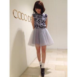 ココディール(COCO DEAL)のココディール チュール スカート(ひざ丈スカート)