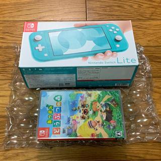 ニンテンドースイッチ(Nintendo Switch)の新品未使用 Nintendo Switch Lite あつまれどうぶつの森セット(携帯用ゲームソフト)
