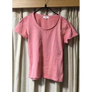 【美品】ピンク レディース シャツ 細身 40(Tシャツ(半袖/袖なし))