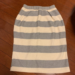 アーバンリサーチ(URBAN RESEARCH)のボーダースカート(ひざ丈スカート)