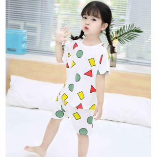 ♡白100♡男女OK!♡パジャマ 部屋着 半袖 短パン セットアップ 可愛い (パジャマ)