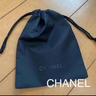 シャネル(CHANEL)の未使用 非売品 CHANEL シャネル 巾着袋 ポーチ 黒 アクセサリーケース(ポーチ)
