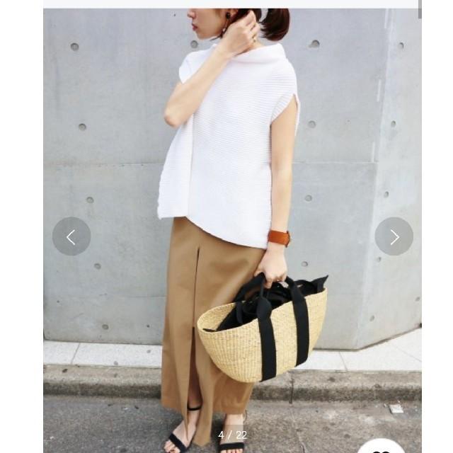 IENA(イエナ)の コットンストレッチリブ レディースのトップス(カットソー(半袖/袖なし))の商品写真