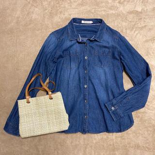 ショコラフィネローブ(chocol raffine robe)のデニムシャツ 長袖 (シャツ/ブラウス(長袖/七分))