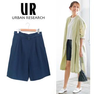 URBAN RESEARCH - アーバンリサーチ リネン ハーフパンツ ショートパンツ タックパンツ 麻コットン
