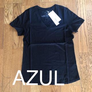 アズールバイマウジー(AZUL by moussy)の型良し AZUL by MOUSSY 黒 新品 V首Tシャツ Mサイズ(Tシャツ(半袖/袖なし))