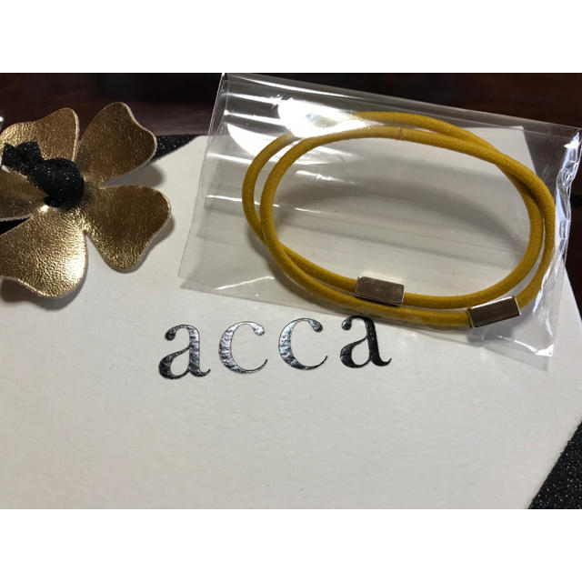 acca(アッカ)のacca♡カラーリングゴム 黄色 レディースのヘアアクセサリー(ヘアゴム/シュシュ)の商品写真