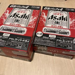 アサヒ(アサヒ)のスーパードライ 350ml 24本(1ケース) 500ml 24本(1ケース)(ビール)