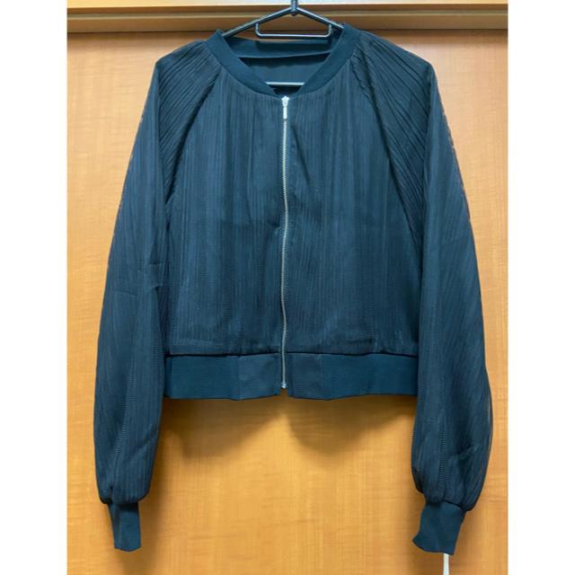 GRACE CONTINENTAL(グレースコンチネンタル)のグレースコンチネンタル チュールプリーツブルゾン レディースのジャケット/アウター(ブルゾン)の商品写真