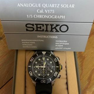 SEIKO - SEIKO◆PROSPEX/ラバー/BLK/V175-0AD0/ソーラー美品