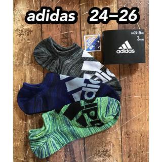 アディダス(adidas)のadidas  ビッグロゴ靴下 3足組   24−26(ソックス)