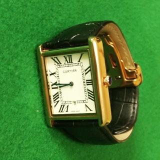カルティエ風クォーツ式腕時計